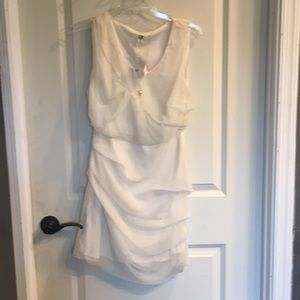 Cream colored cocktail dress